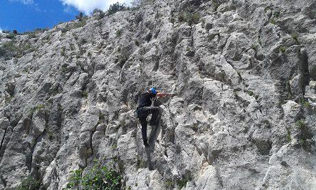 Zona escalada barranc de Ferry 4