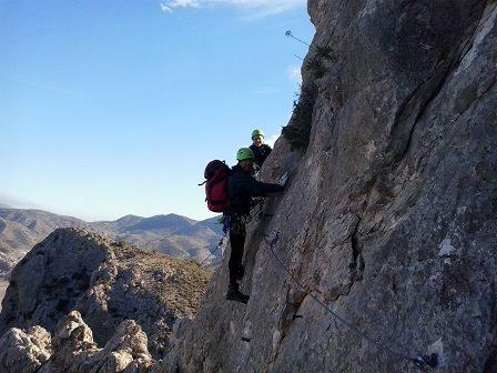 Via ferrata cara norte sierra del Lugar 4