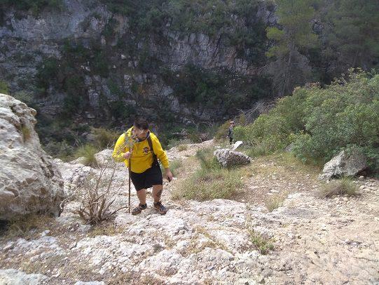 Ruta senderismo poblado Ibero barranco la Bastida 3