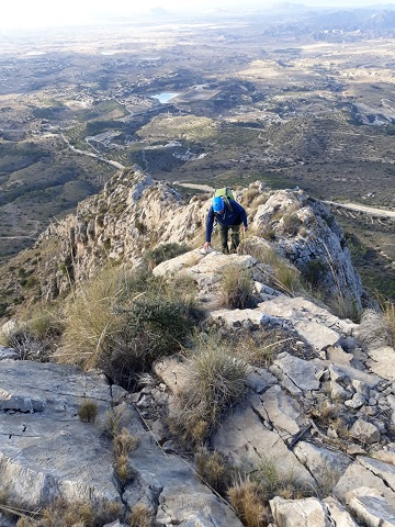 Cresta cuevas del Canelobre 5