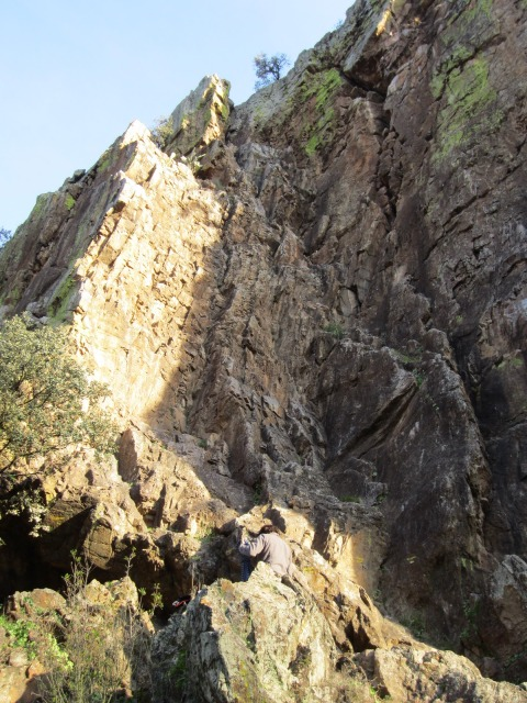 Zona escalada peñon del Aguila