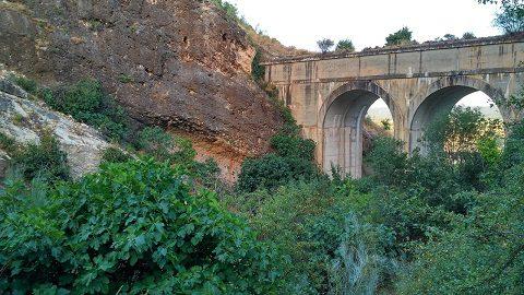 Zona escalada cañon del rio Uceda