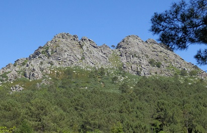 Zona escalada monte Galiñeiro