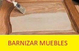 Barnizar muebles madera
