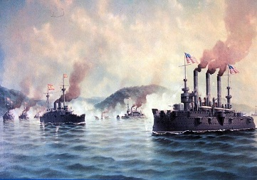 Flota norteamericana en Cavite