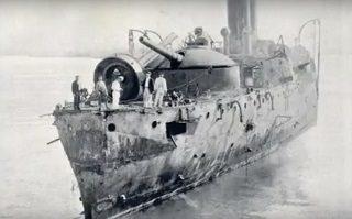 El Vizcaya al final de la batalla