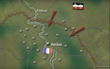 Mapa del ataque Aleman