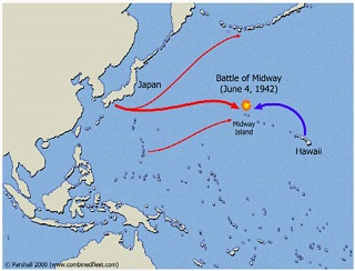 Mapa batalla de Midway