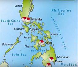 Mapa Filipinas año 1898