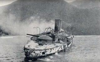El Oquendo al final de la Batalla de Cavite