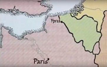 Mapa batalla de Ypres