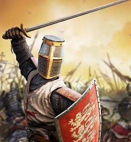 Cruzado en la batalla