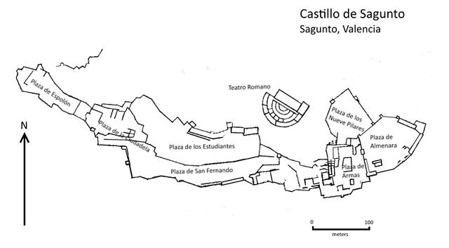 Plano castillo de Sagunto